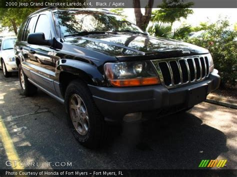 2000 jeep cherokee black black 2000 jeep grand cherokee laredo 4x4 agate