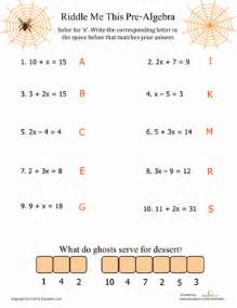 Algebra Beginner Worksheets Pre Algebra Algebra Equations Algebra And Equation