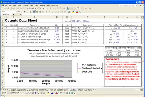 Pontoon Stability Calculation by Quick Barge Or Pontoon Trim List And Stability