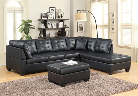 black leather like sectional sectional sofa sets
