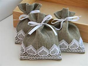 wedding favors wedding favor bags burlap linen white lace With favor bags for wedding