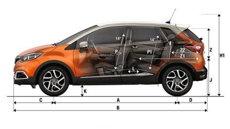 dimensions captur cars renault uk