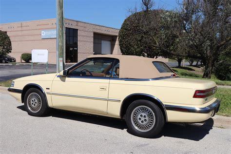 Tc By Maserati by 1990 Chrysler Tc By Maserati Midwest Car Exchange