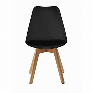 Chaises Scandinaves Noires : lot de 6 chaises noires maison design ~ Teatrodelosmanantiales.com Idées de Décoration