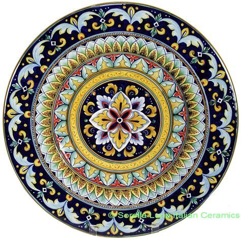 italian hand painted ceramic majolica plate cm