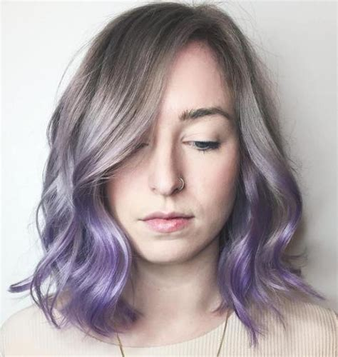 brand  ultra trendy purple balayage hair color ideas
