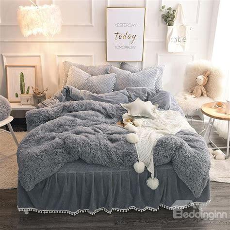 big fluffy comforter luxury 100 goose white plaid king or 220 240