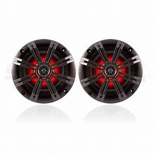 Kicker Km Series 6 5 U0026quot  Rgb Led Marine Coaxials Speakers