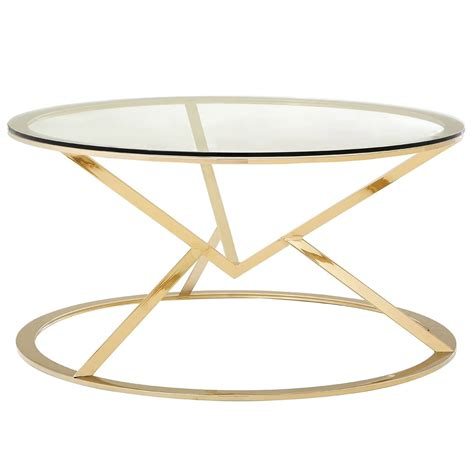 Pair of black gold round side tables modern oval leather metal coffee table ellipse minimalist contemporary by my sy home nordic tempered glass with stainless steel base in end maklaine marble top and com florence decor ragusa large furniture fashion 2 piece set finnley ø60 cm wash antique. Gold Allure Round Coffee Table | Modern & Contemporary Furniture