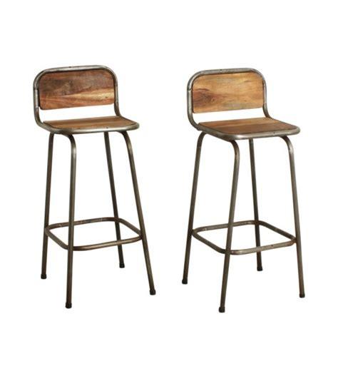 chaise de bar metal tabouret de bar bois metal vintage