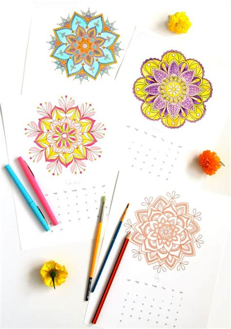 mandala coloring pages   artist  tips