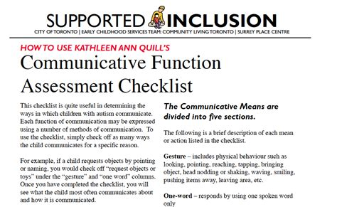 communicative function assessment checklist from 767 | 69e91a7b317908daed26d9ee9c987655