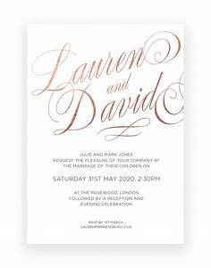 luxury wedding invitations uk the foil invite company With luxury wedding invitations companies