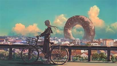 4k Anime Wallpapers Bike Artwork Bicycle Hair