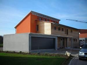 Garage Mit Pultdach : einfamilienhaus modern holzhaus verstetztes pultdach holzfassade garage mit flachdach ~ Orissabook.com Haus und Dekorationen
