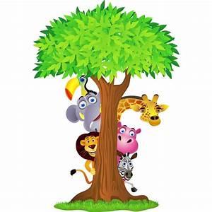 Stickers Animaux De La Jungle : sticker enfant animaux de la jungle 2639 stickers muraux enfant ~ Mglfilm.com Idées de Décoration