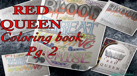 speed draw red queen coloring book pg  youtube