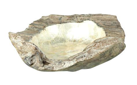 medium teak mother  pearl bowl