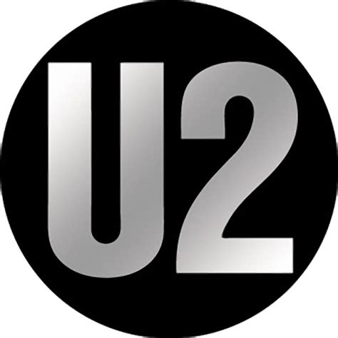 Black Home Decor Accessories by U2 Logo Chrome Button