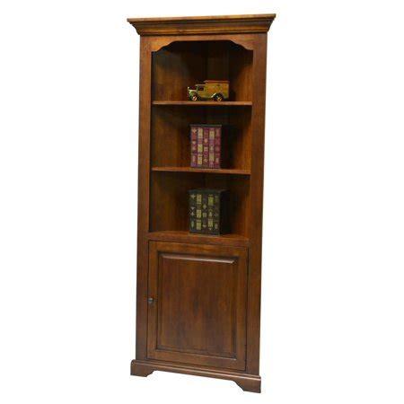 Corner Bookcases With Doors by Corner Bookcase With Door In Medium Oak Finish