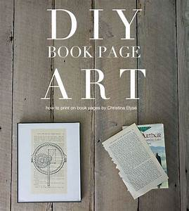 diy book page art how to print on book pages books With kitchen cabinets lowes with harry potter canvas wall art