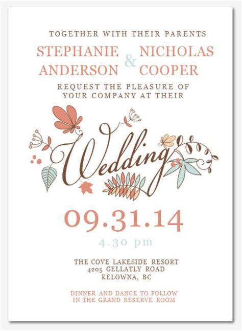 wedding invitation wording templates microsoft