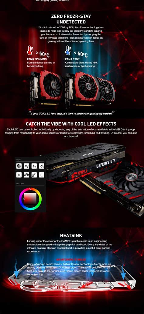 Msi Geforce Gtx1080ti Gaming X 11g Graphics Card Gtx1080ti