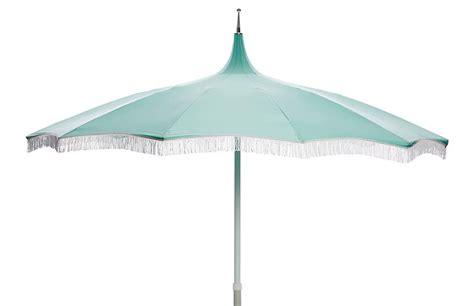 ari pagoda fringe patio umbrella glacier blue patio