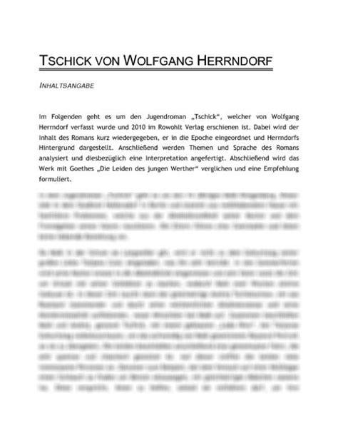 tschick von wolfgang herrndorf interpretation und