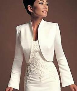 achetez en gros ivoire satin bolero en ligne a des With veste pour robe de soirée