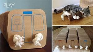 Jouets Pour Chats D Appartement : jouet pour chat en carton 20 animaux pratique ~ Melissatoandfro.com Idées de Décoration
