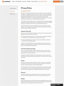 Terms Of Use And Privacy Policy Template Privacy Policy Template Generator Free 2018