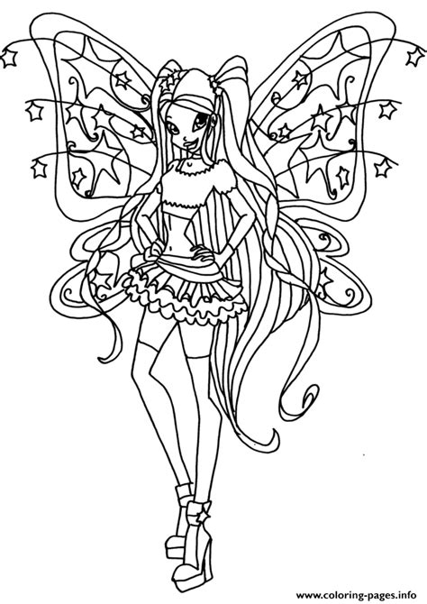 winx da colorare stella believix stella winx club coloring pages printable