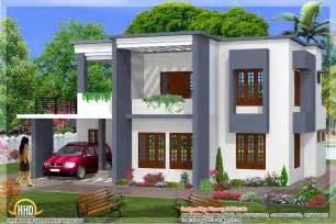 Simple Villas Designs Ideas Photo by Simple 4 Bedroom Flat Roof House Design 2329 Sq Ft