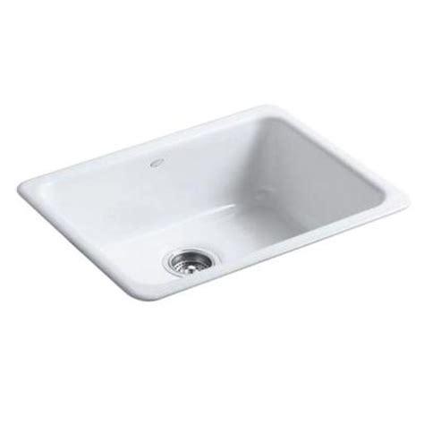 single bowl cast iron kitchen sink kohler iron tones top mount undermount cast iron 24 in 9301