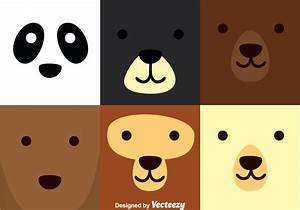 Bear Square Face - Download Free Vector Art, Stock ...
