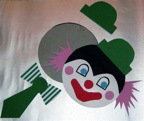 clown gesicht basteln step by step bastelanleitungen bastelvorlage clown aus tonpapier selber basteln schritt 6