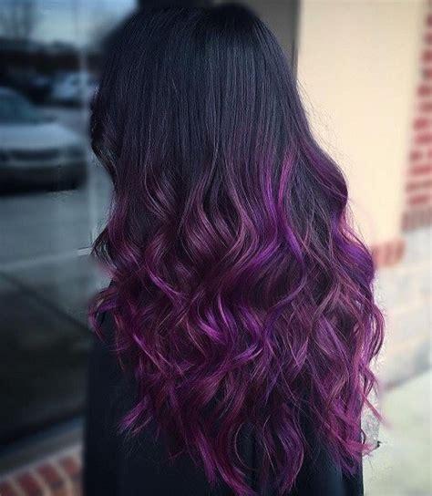 purple ombre hair ideas plum lilac lavender  violet