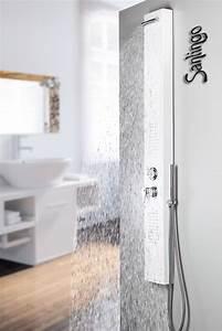 Duschpaneel Mit Massagedüsen : alu duschpaneel mit regendusche und massaged sen in weiss von sanlingo bad duschpaneele ~ Eleganceandgraceweddings.com Haus und Dekorationen