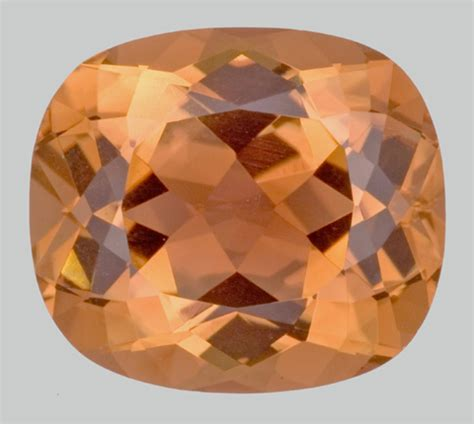 Oval Facet Orange Tourmaline - Gemstone Image