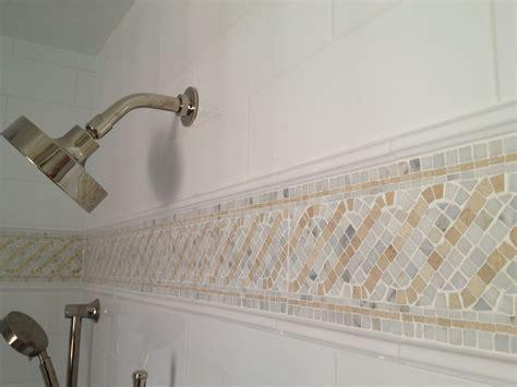 Mosaic Border Tiles Bathrooms by Mosaic Tile Border W Statuary Crema Marfil Becoming A