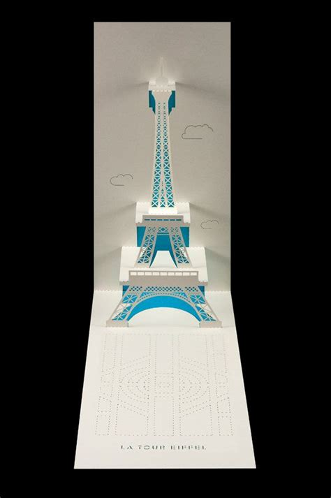 eiffel tower pop up papercraft project ideas and envelopes