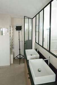 cloison verriere et porte metallique les ateliers du 4 With salle de bain design avec cloison décorative