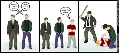 40+ Funny Mac Vs Pc Vs Linux Comics
