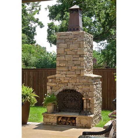 masonry outdoor fireplace 36 in firerock arched masonry outdoor wood burning fireplace