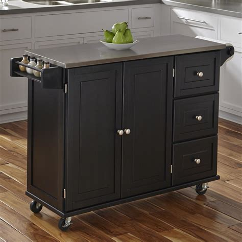 stainless top kitchen island home styles liberty kitchen island with stainless steel top reviews wayfair
