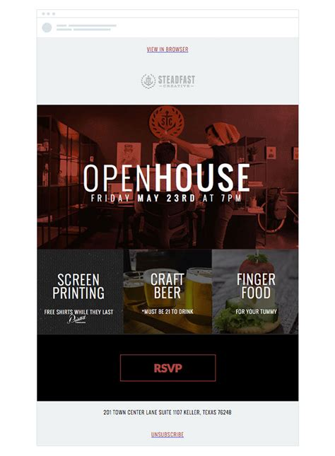 event invitation emails  draw crowds campaign monitor