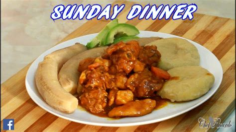 sunday meals jamaican hard food with curry chicken sunday dinner youtube