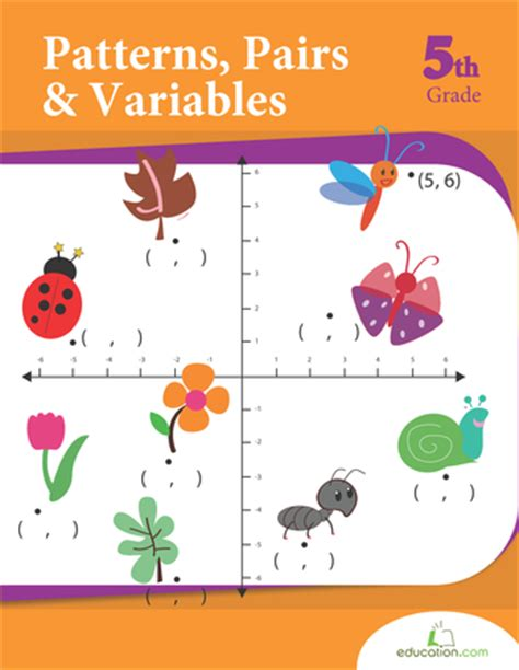 patterns pairs  variables workbook educationcom