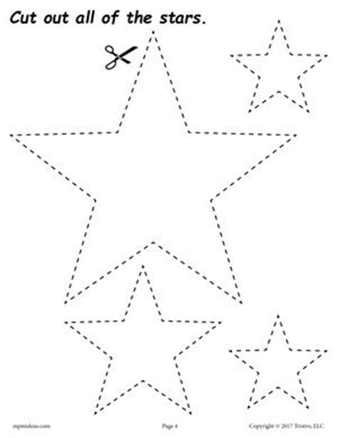 Free Star Tracing Worksheet  Printable Tracing Shapes Worksheets